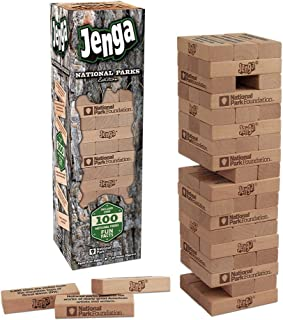 USAOPOLY JENGA National Parks   Classic Jenga Wooden Block Game with a National Parks Theme   Perfect Travel Game for Families   Celebrate US National Parks Service