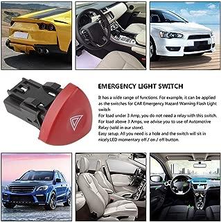 Rojo PETUNIA Interruptor de luz de Advertencia de Emergencia Intermitente de Advertencia Warnblinker Schalter para Renault Laguna Master Trafic II Vauxhall 01-14 Negro