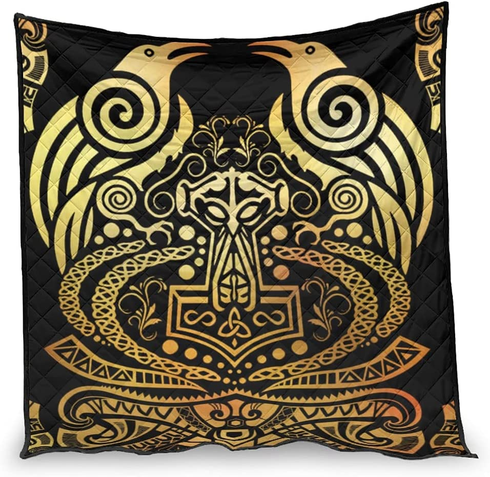 Puuwomenbt Patterned Viking Raven Air Recommended Quilt Classy Conditioner High order -
