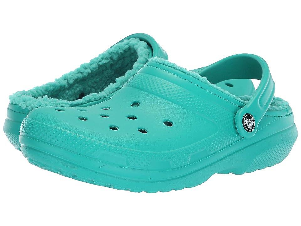 Crocs Classic Lined Clog (Tropical Teal/Tropical Teal) Clog Shoes