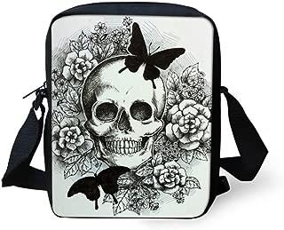 Fashion Sling Satchel School Bags for Women Sports Purse Butterfly Pattern