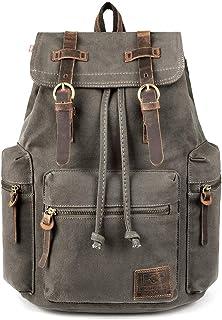 حقيبة ظهر قماشية كلاسيكية من P.KU.VDSL ، حقيبة ظهر للسفر مصنوعة من الجلد والمشي لمسافات طويلة