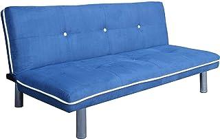 comprar comparacion Mueblix Sofá Cama Royo (Azul)