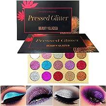 Beauty Glazed Halloween Pressed Glitter Eyeshadow Palette High Pigmented Glitters Kit Eye Shadow Sparkle Pro Makeup Palett...