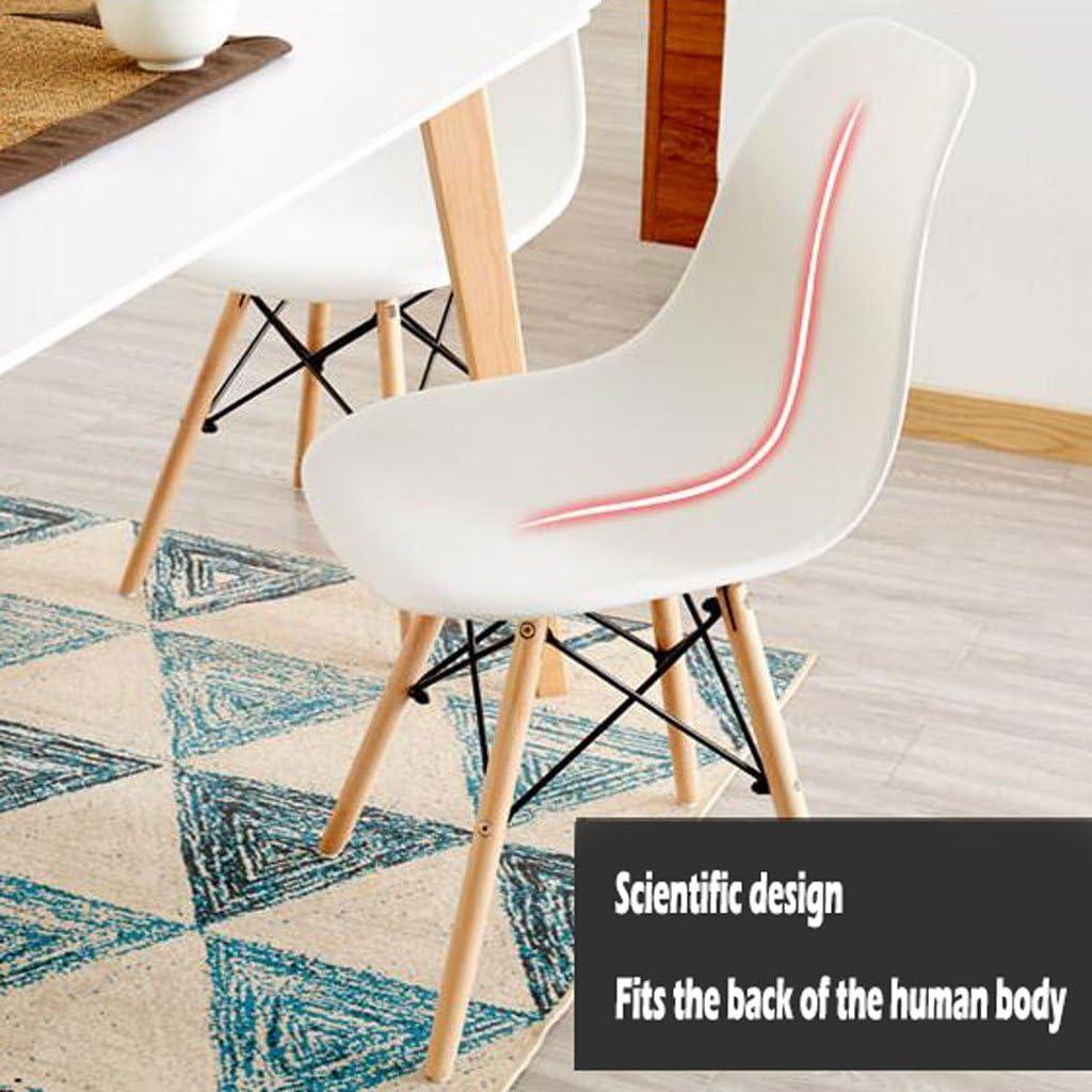 SLL- Chaise à Manger en Plastique Adulte Bureau Tabouret Dossier Chaise ménage Moderne Simple Paresseux en Bois Massif Chaise Moderne (Color : B) A