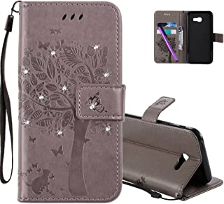 HMTECHUS Samsung A5 2017 Case Printing Flamingo Retro Panda Floral Wallet Folio Flip PU Leather with Stand Card Holder Slo...