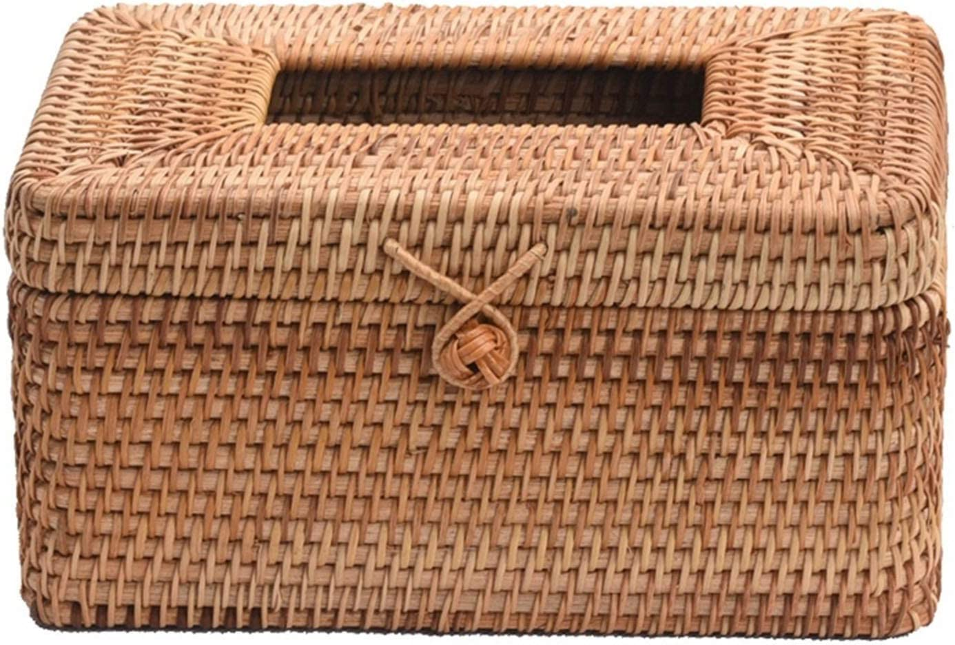 Electric Max New life 50% OFF oven Handmade Rattan Creative Box Exquisi Tissue Retro