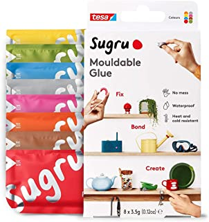 Sugru Mouldable Glue - All-Purpose Adhesive, Multi Colours, Advanced Silicone Technology - Holds up to 4.4 lb - 8 Pack