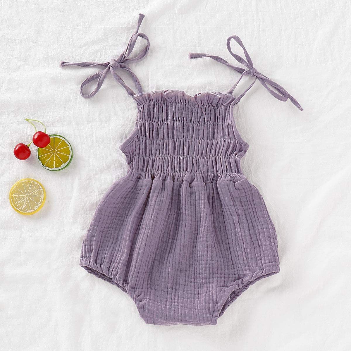 Newborn Baby Girl Clothes Lace Romper Linen Sleeveless Infant Jumpsuit Toddler Summer Clothes Onesies Outfit