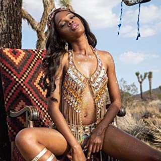 Victray Boho Rhinestone Body Chains Beach Bikini Body Chain Bra Fashion Harness Charm Body Accessories Jewelry for Women and Girls