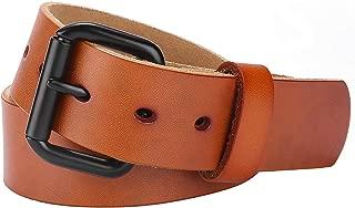 Men's 100% Italian Cow Leather Belt, Autolock Full Grain Leather Jean Belt for Men, 5-Year Warranty - brown - Size 38(Waist 36)