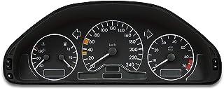 Tachodekorset Chrom für Benz C Klasse W202 vor und nach Facelift (1993   2000)