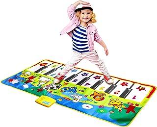 M SANMERSEN Piano Mat Musical Dance Mat Keyboard Playmat for Kids 53 x 23 inches Green / 53x23 Inches 1593