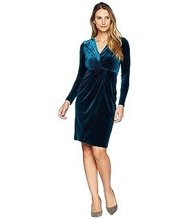 Stretch Velvet Wrap Dress