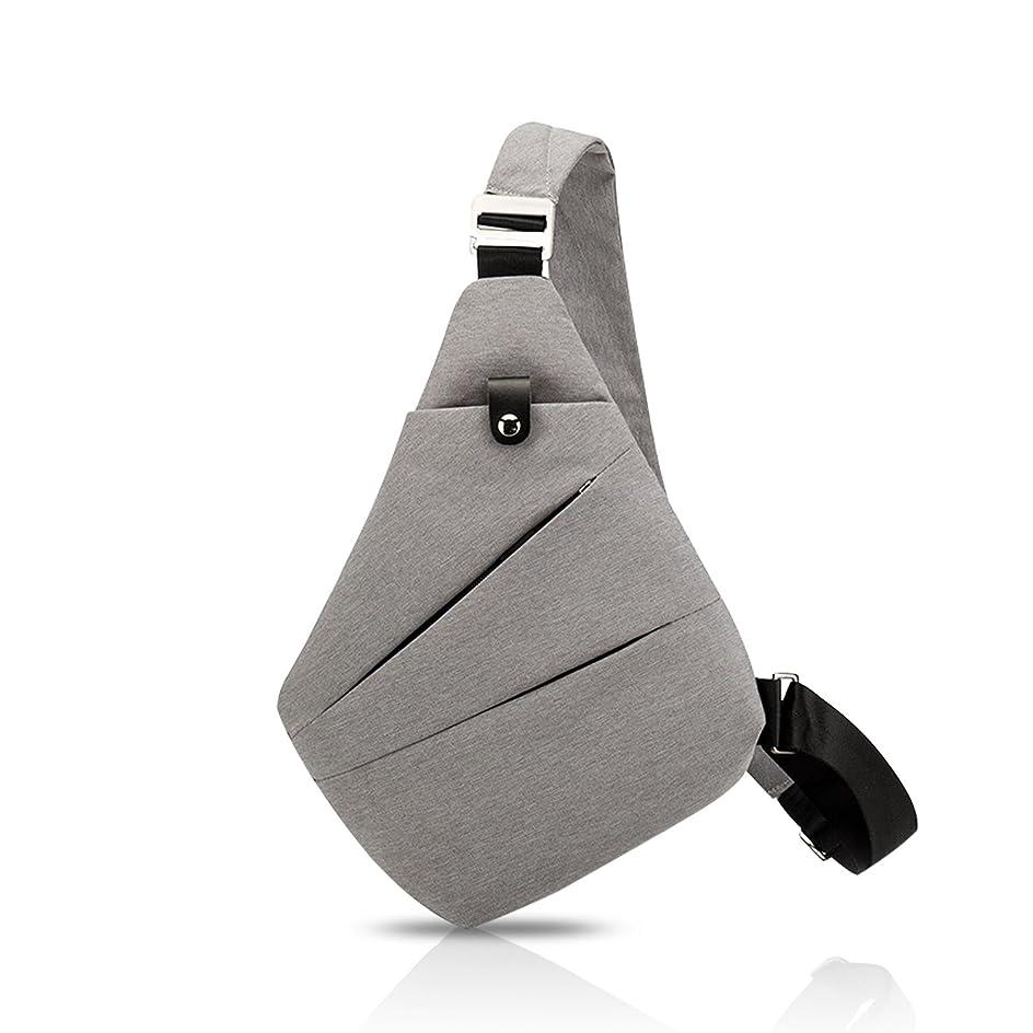 ラフト想定金銭的FANDARE ショルダーバッグ ボディバッグ メンズ 斜めがけバッグ 通勤 スリングバッグ 防水 収納力抜群 カジュアル ポリエステル 防水 グレー