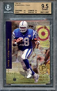 1994 sp #3 MARSHALL FAULK indianapolis colts rookie BGS 9.5 (9.5 9.5 9.5 10) Graded Card