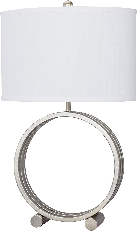 Fangio Lighting W-1507CG Metal Circle Table Lamp, 26.5 , Champagne gold