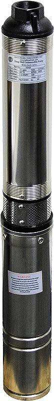 Hallmark Industries MA0343X 4 Deep Well Submersible Pump 1 2 Hp 110V 60 Hz 25 GPM 150 Head Stainless Steel 4