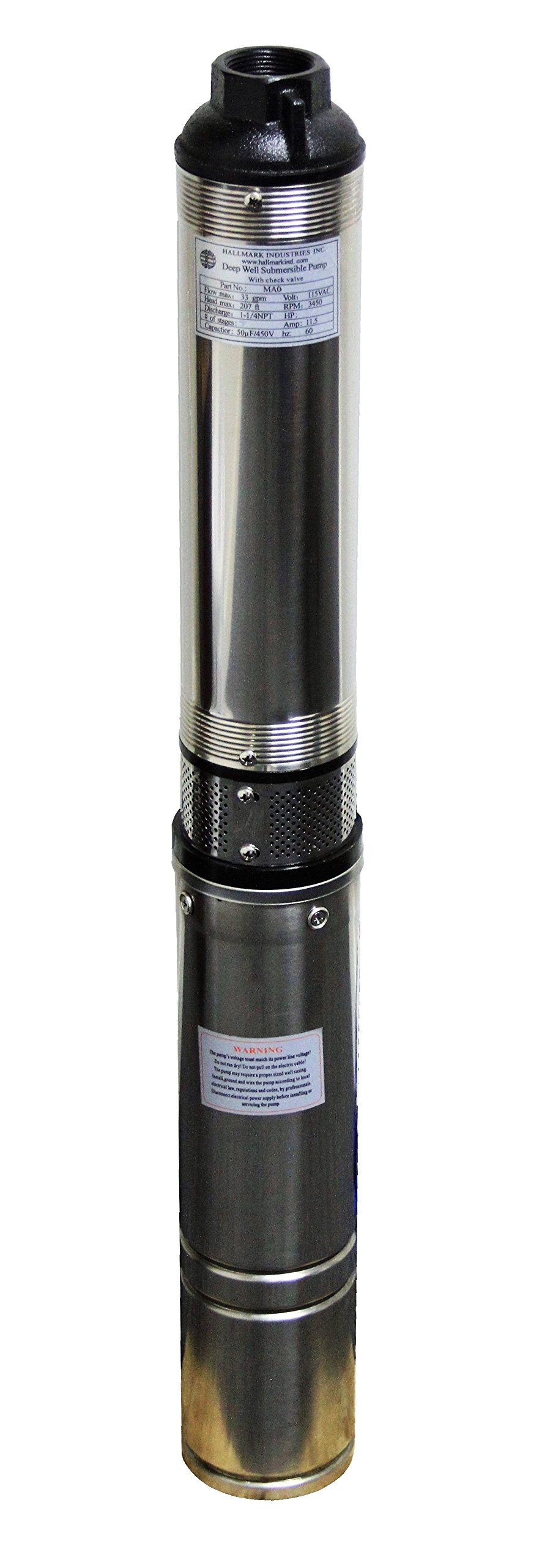 Hallmark Industries MA0343X 4 Submersible Stainless