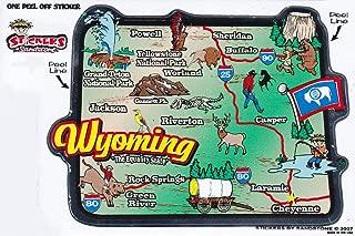 Flagline Wyoming - State Map Outline Vinyl Sticker