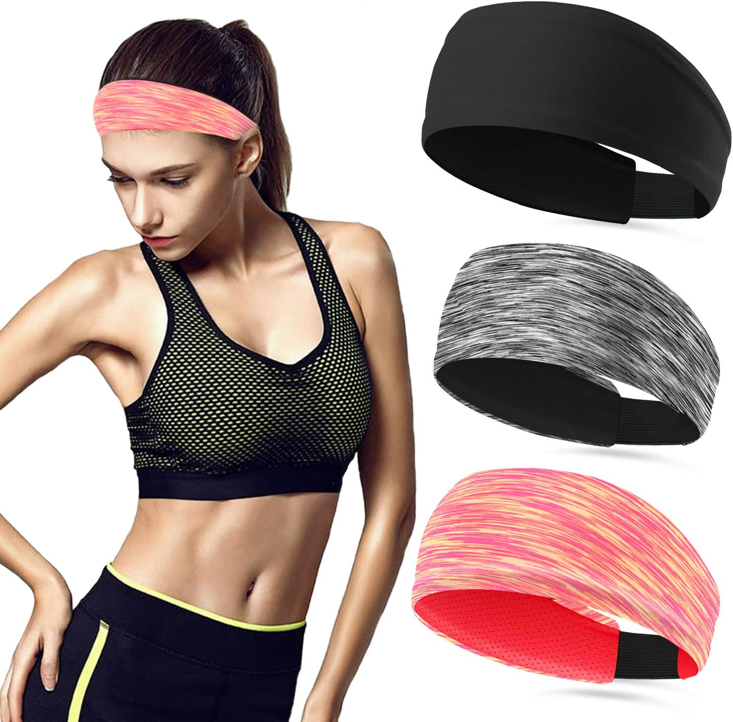 Sweat Bands No Slip Finally popular brand Fashion Workout Save money Women Headbands for Headband