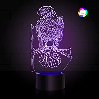 3D Night Light for Kids, Illusion Lamp Smart Touch 7 Colors Changing Table Desk Bedroom Deco Optical Illusion Lamps As a Gift Ideas for Boys or Girls