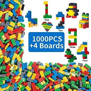 Limei International Bulk Building Construction Blocks Bricks Most Popular Stacking Bricks Plugging Toy Set STEM Train Education Fancy Shapes Fit for All Major Brands Ideal for Kids(4 Boards for Free)