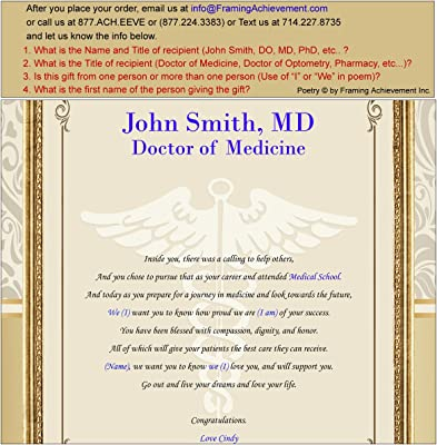 Amazoncom Personalized Doctor Medical School College Physician