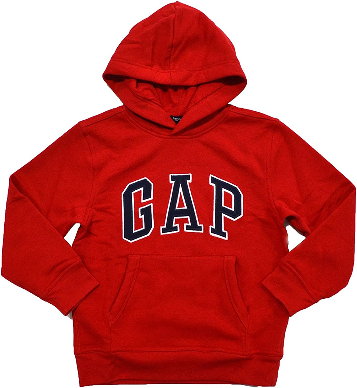 GAP Boys Fleece Arch Logo Pullover Hoodie (XXL, Royal Blue)