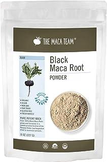 The Maca Team Raw Black Maca Powder, Raw and Vegan Maca Powder Fresh from Peru, 8 Ounces, 25 Servings