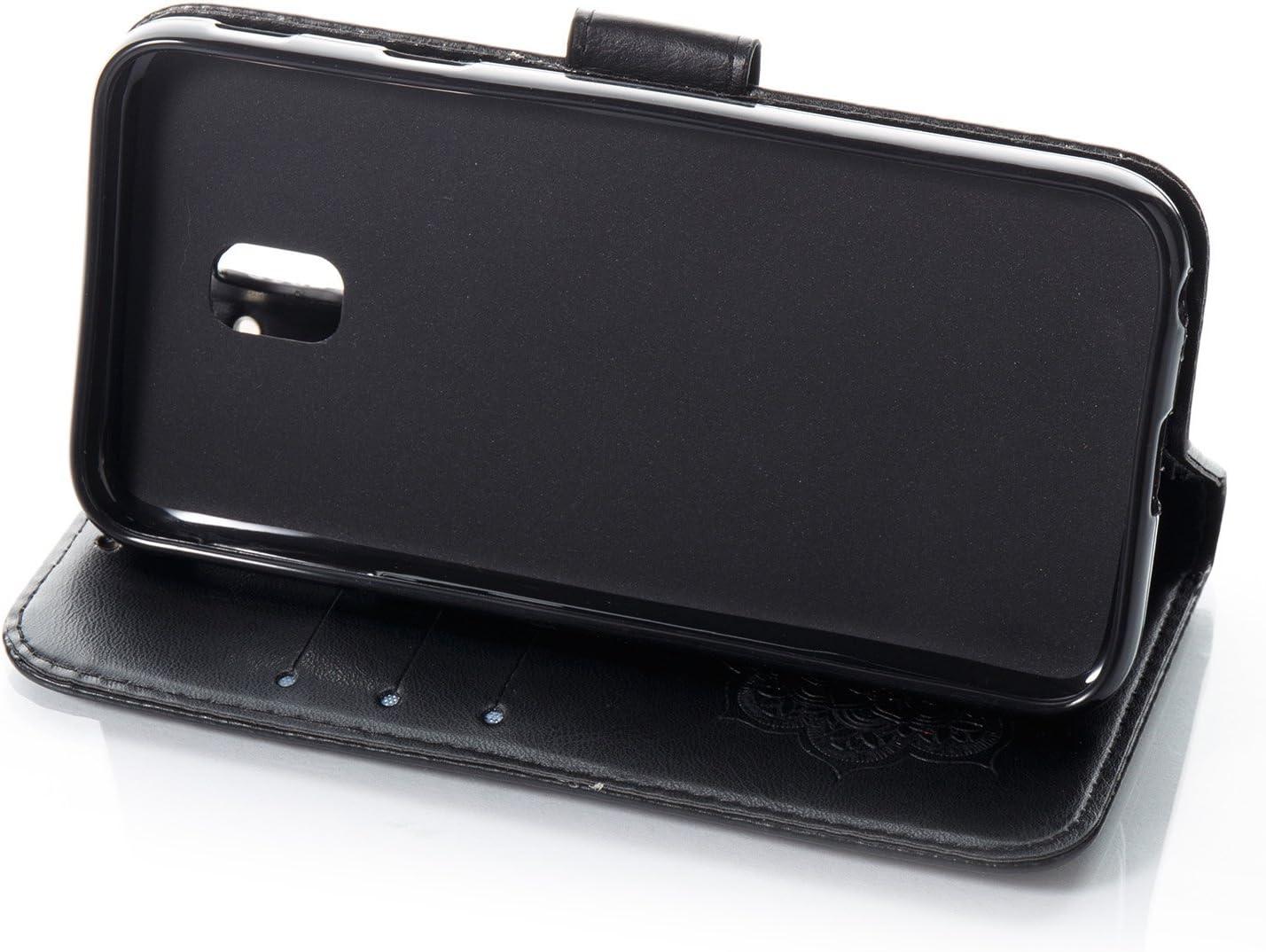 Etsue /Étui de protection /à rabat en cuir pour Galaxy J3 2017 J330 Style vintage et /él/égant