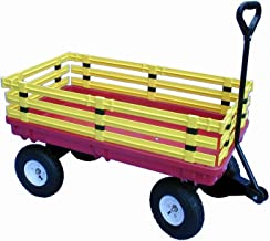 Millside Industries Trekker Wagon with Yellow Removable Poly Rack Set