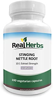Stinging Nettle Root 10:1 Pure Extract 750mg (Equivalent to 7500mg Raw Stinging Nettle Root) Promotes Prostate & Urinary T...
