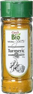 Cecil Bio - Cúrcuma natural en polvo, bote de 45 g (pack de 4)