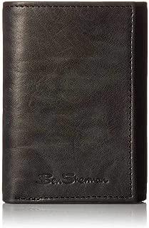 Ben Sherman Manchester Men's Full Grain Marble Leather Trifold Wallet