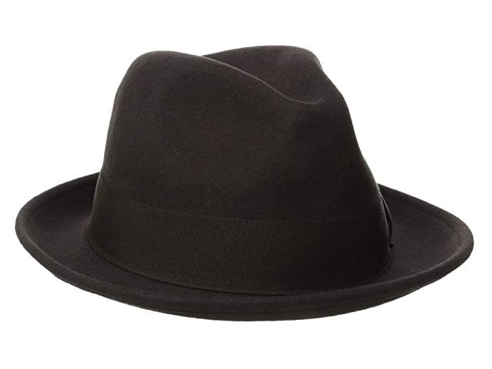 Stacy Adams Fedora with Matching Trim (Chocolate) Fedora Hats