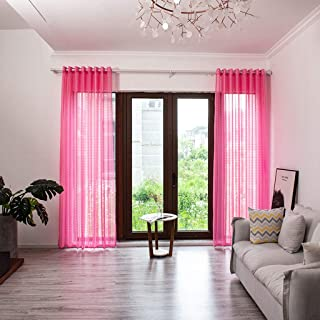 Dkings Cortina de Ventana Blackout, 1 PCS Medio Blackout Superior ojetes Medio Aislamiento térmico para vivero Decor hogar Sala Dormitorio decoreation 200 * 100 cm