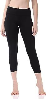 Pau1Hami1ton Women's Yoga Pants High Waist Capri Leggings 3/4 Tummy Control Gym Trousers Workout Running Stretching GP-07