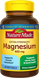 Nature Made Extra Strength Magnesium Oxide 400 mg Softgels, 60 Count