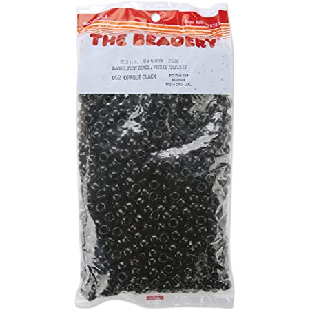 The Beadery 6 by 9mm Barrel Pony Bead 900-Pieces Red