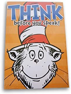 Dr. Seuss 2-Sided Motivational Poster - Think Before You Speak/Unless Someone Like You Cares