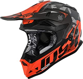 Just1 J32 Pro Swat Camo Motocross Helm Grau/Orange XS