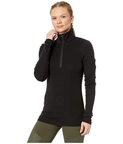 Icebreaker 175 Everyday Merino Baselayer Long Sleeve 1/2 Zip (Black) Women