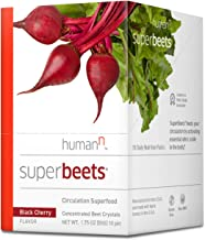 Sponsored Ad - HumanN SuperBeets Circulation Superfood Concentrated Beet Powder Nitric Oxide Boosting Supplement (Black Ch...