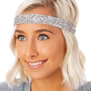 Women's Adjustable NO Slip Wide Bling Glitter Headband