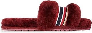 EMU AUSTRALIA Wrenlette Womens Slippers Sheepskin Slipper Size 10 RED Wine