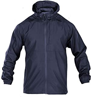5.11 Tactical Men's Packable Operator Jacket, Foldable, Water and Wind Resistant, Style 48169