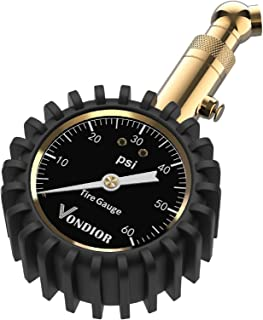 Tire Pressure Gauge – (0-60 PSI) Heavy Duty, Certified ANSI Accurate with Large 2..