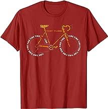 Bicycle Anatomy Shirt | Cute Cycling Is Life T-Shirt Gift