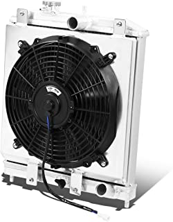 Fit 94-00 Eg//Eh//Ej//Em//Dc At 2-Row//Dual-Core Aluminum Racing Radiator+Fan Shroud